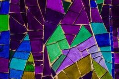 Покрашенная стеклянная мозаика Справочная информация текстура Стоковые Изображения