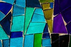 Покрашенная стеклянная мозаика Справочная информация текстура Стоковая Фотография