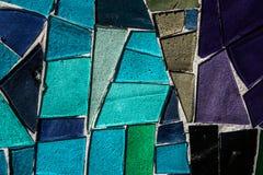 Покрашенная стеклянная мозаика Справочная информация текстура Стоковые Фото