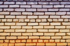Покрашенная стена кирпичей Стоковые Изображения