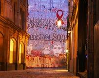 Покрашенная стена настенной росписи в Брюсселе Стоковое Фото
