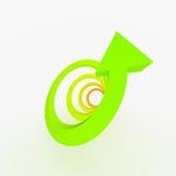 Покрашенная стрелка восхождения, спираль Стоковое Изображение RF