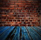 Покрашенная текстура кирпичной стены Стоковое Фото