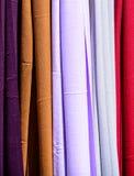 Покрашенная текстура шарфов Стоковое Фото