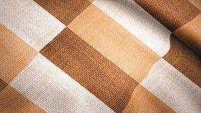 Покрашенная ткань в квадрате двигает в ветер Анимация предпосылки покрашенной ткани Стоковые Фотографии RF