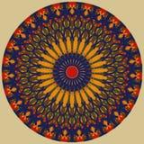 Покрашенная украшенная покрашенная мандала, имеет несколько цветов Стоковое Изображение RF