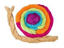 Покрашенная форма полотенец Terry улитки изолированной на белизне Стоковое Изображение RF