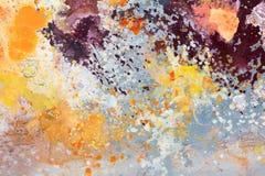 покрашенная холстина Искусство создано и покрашено фотографом стоковое изображение rf