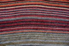 Покрашенная шерстяная текстура сделанная из ткани с картиной стоковые фотографии rf