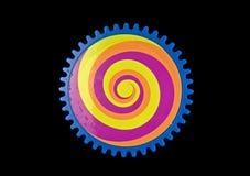 покрашенная шестерня иллюстрация вектора