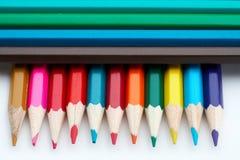 покрашенная школа карандашей Стоковая Фотография