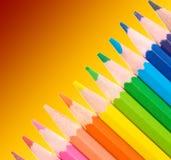 покрашенная школа карандашей Стоковая Фотография RF