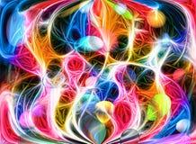 Покрашенная яркая абстракция Стоковое Изображение