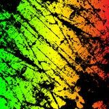 покрашенная grunge поцарапанная предпосылка текстуры Регги иллюстрации EPS10 красит зеленый, желтый, красный иллюстрация вектора