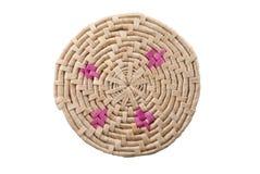 покрашенная handmade циновка круглая Стоковые Фото