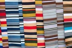 Покрашенная striped ткань Стоковая Фотография