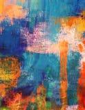 Покрашенное абстрактное текстурированное художническое искусство Grunge Стоковая Фотография
