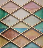 Покрашенное белье красочно украшая окно церков Стоковое фото RF