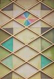Покрашенное белье красочно украшая окно церков Стоковые Фото
