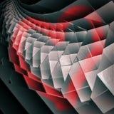 Покрашенное красное сердце на серых плитах полимера на день валентинок вектор Стоковое Фото