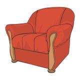 покрашенное кресло изолированным Стоковая Фотография