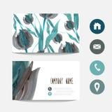 Покрашенное масло цветет визитная карточка бесплатная иллюстрация