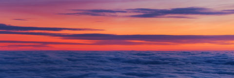 Покрашенное небо Стоковые Фото