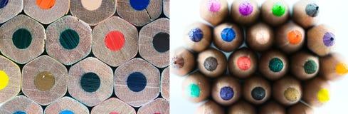 Покрашенное дно crayons стоковые изображения rf