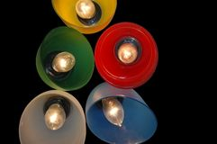 покрашенное освещение Стоковые Фото