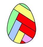 Покрашенное пасхальное яйцо украшенное с пестроткаными нашивками Стилизованный шарик спорт плоско вектор бесплатная иллюстрация