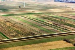 Покрашенное поле увиденное сверху Стоковое Изображение