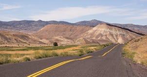 Покрашенное положение США Северная Америка Орегона кроватей холмов ископаемое стоковая фотография rf