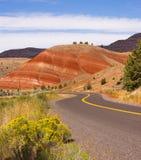 Покрашенное положение США Северная Америка Орегона кроватей холмов ископаемое стоковое изображение