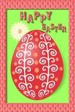 покрашенное приветствие пасхального яйца карточки Стоковые Фото