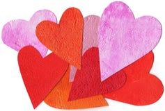 покрашенное сердце предпосылки цветастое Стоковые Фото