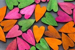 Покрашенное сердце на серой предпосылке Стоковая Фотография