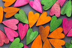 Покрашенное сердце на серой предпосылке Стоковая Фотография RF