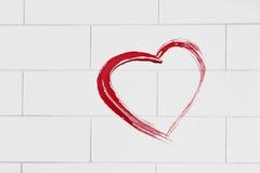 Покрашенное сердце Стоковые Фотографии RF