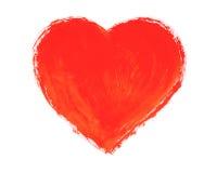 Покрашенное сердце стоковые изображения