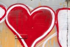 Покрашенное сердце Стоковая Фотография RF