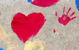 Покрашенное сердце Стоковые Фото