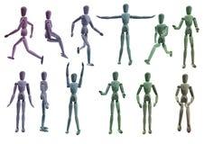 Покрашенное собрание манекена художника Стоковые Фотографии RF