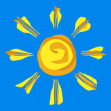 покрашенное солнце Стоковые Фотографии RF