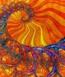 покрашенное спиральн солнечное Стоковое Изображение RF