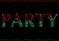 2 покрашенное слово партии яркого блеска Стоковые Изображения