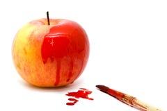 покрашенное яблоко Стоковая Фотография