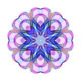 Покрашенное яркое радужное украшение на день ` s валентинки на Whit иллюстрация вектора