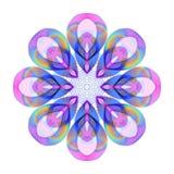 Покрашенное яркое украшение радуги на прозрачной предпосылке иллюстрация штока
