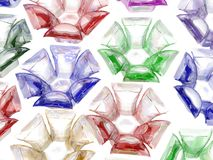 покрашенное 3d цветет стекло Стоковое Изображение