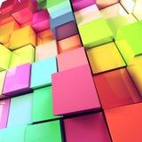 покрашенное 3d cubes предпосылка Бесплатная Иллюстрация